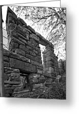 Falling Wall Jerome Black And White Greeting Card