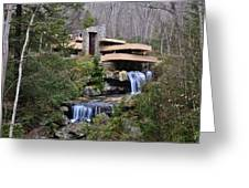 Falling Water By Frank Lloyd Wright  Greeting Card