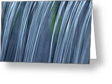Falling Water Up Close Greeting Card