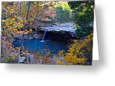 Falling Water Waterfall Greeting Card
