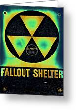 Fallout Shelter Abstract 2 Greeting Card