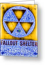 Fallout Shelter Abstract 4 Greeting Card