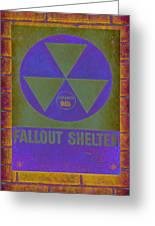 Fallout Shelter Abstract Greeting Card