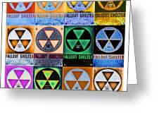 Fallout Shelter Mosaic Greeting Card