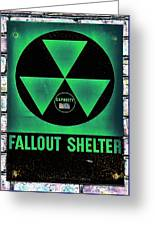 Fallout Shelter Wall 1 Greeting Card