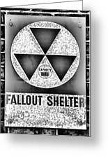 Fallout Shelter Wall 10 Greeting Card