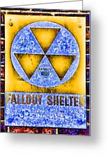 Fallout Shelter Wall 3 Greeting Card