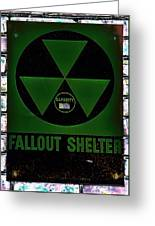 Fallout Shelter Wall 4 Greeting Card