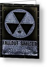 Fallout Shelter Wall 5 Greeting Card