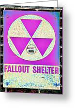 Fallout Shelter Wall 6 Greeting Card