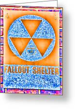 Fallout Shelter Wall 7 Greeting Card
