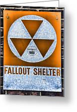 Fallout Shelter Wall 8 Greeting Card