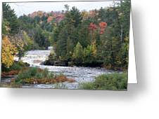 Falls And Color Greeting Card
