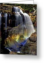 Falls And Rainbow Greeting Card