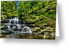 Falls And Steps Greeting Card