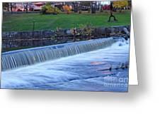 Falls At Slater Mill Greeting Card