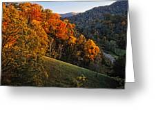Fall's Mountainside Cascade Greeting Card