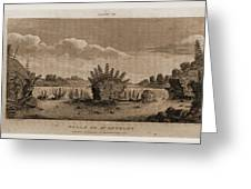 Falls Of St. Anthony, 1821, Narrative Journal Of Travels Greeting Card