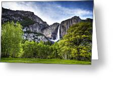 Falls Of The Valley Greeting Card