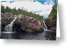 Falls On The Aguasabon River Greeting Card