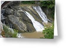 Falls On The Coeyman Creek Greeting Card