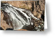 Falls On The Gibbon River In Yellowstone National Park Greeting Card