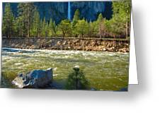 Falls On The Merced Greeting Card
