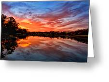 Fall's Reflection Greeting Card