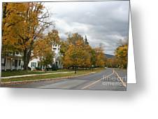 Autumn Trees At The Roadside Greeting Card