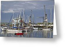 Falmouth Harbour And Docks Greeting Card