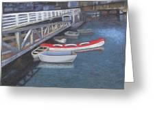 False Creek Ferry Landing Greeting Card by Brenda Salamone