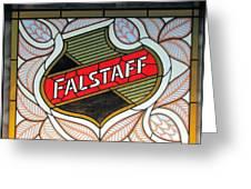 Falstaff Window Greeting Card