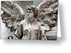 Famiglia Cavaliere Del Francesco Canti Memorial Marker Detail IIi Monumental Cemetery Greeting Card