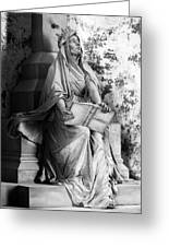Famiglia Dell Acqua Memorial Marker II Bw Monumental Cemetery Greeting Card