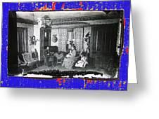Family At Home Interior Collage Tucson Arizona Circa 1883-2012 Greeting Card
