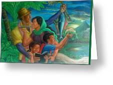 Family Bonding In Bicol Greeting Card