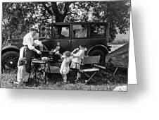 Family Camping Greeting Card