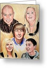 Family Collage Commissions Greeting Card