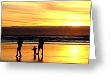 Family In The Yellow Spotlight Greeting Card