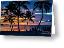 Family Journey Into The Night Greeting Card