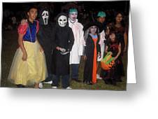 Family Of Ghouls Halloween Party Casa Grande Arizona 2005 Greeting Card