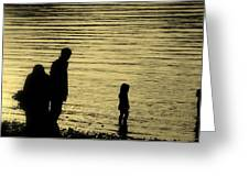 Family Paddle Greeting Card