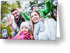 Family Waving Hands Greeting Card