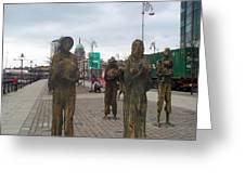 Famine Monument Dublin Ireland Greeting Card