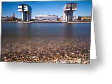 Famous Crane Houses Kranhaeuser In Cologne Greeting Card