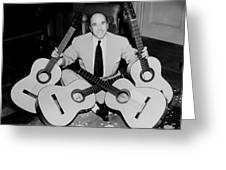 Famous Guitarist Carlos Montoya 1953 Greeting Card