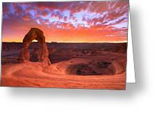 Famous Sunset Greeting Card