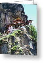 Famous Tigers Nest Monastery Of Bhutan 7 Greeting Card