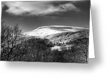 Fan Fawr Brecon Beacons 3 Mono Greeting Card
