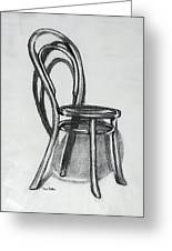 Fanback Parlor Chair Greeting Card